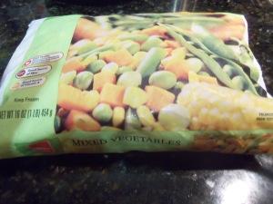 Frozen Mixed Veggies (Peas, Carrots, Corn, Lima beans and Green beans)
