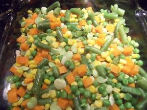 Veggies over Chicken