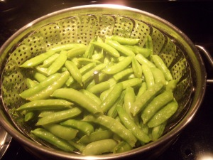 Steaming Sugar Snap Peas
