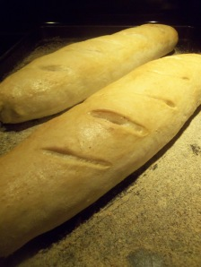 Baguettes hot out of the oven